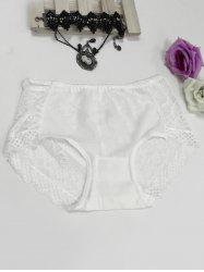 Hollow Out See-Through Spliced Briefs -