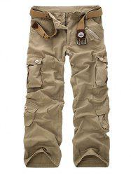 Zipper Fly Straight Leg Multi-Pockets Cargo Pants -