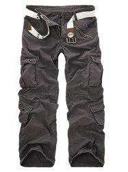 Zipper Fly Straight Leg Multi-Pockets Cargo Pants