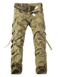 Plus Size Buckle Strap Cargo Pants -