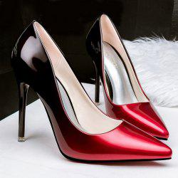 Stiletto Heel Pointed Toe Gradient Color Pumps -