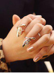 2 Pcs Dragonfly Rhinestone Flower Nail Rings -