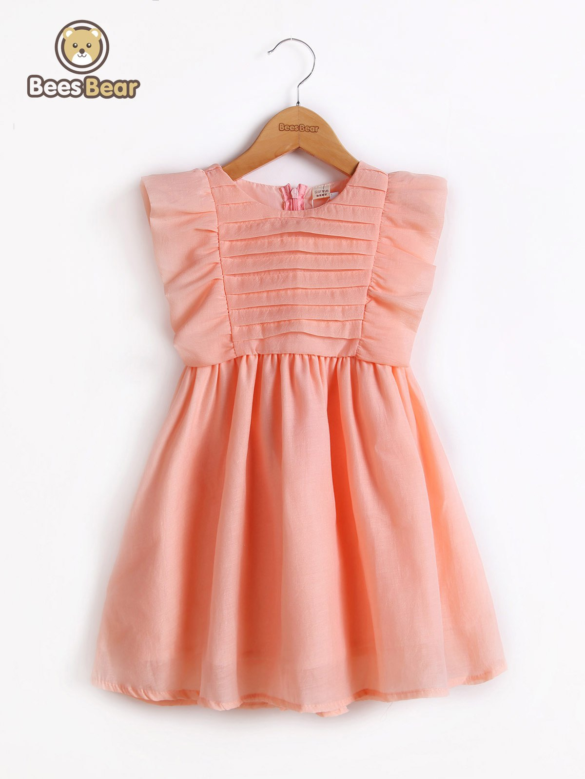 Hot Cute Flounced Solid Color Bowknot Design Dress