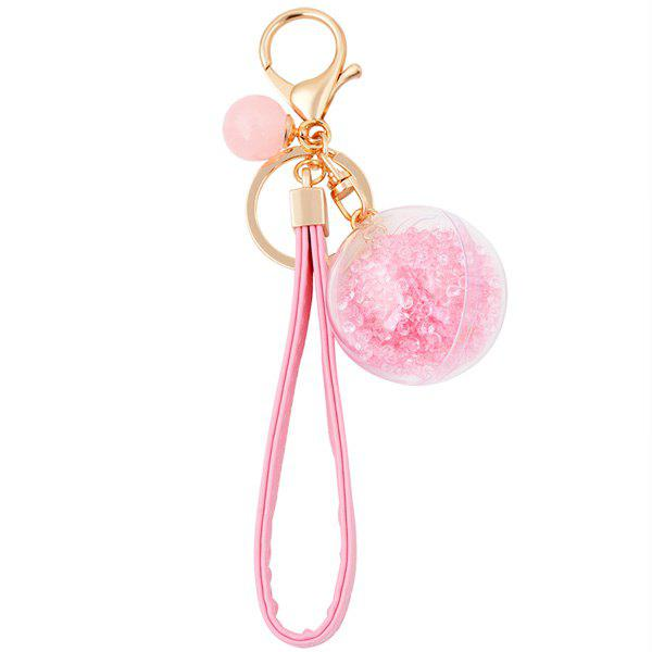 Latest PU Rope Lucency Ball Hang Decorative Keyring