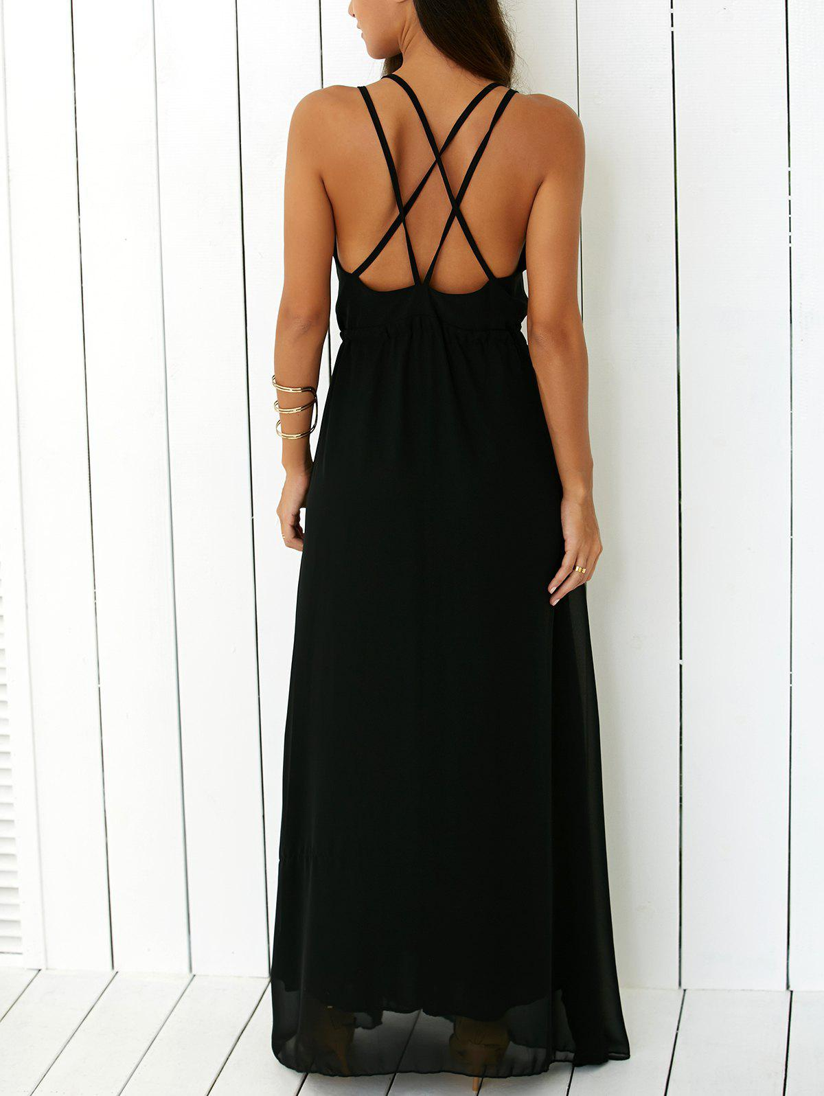 Online Criss Floor Length Open Back Prom Dress