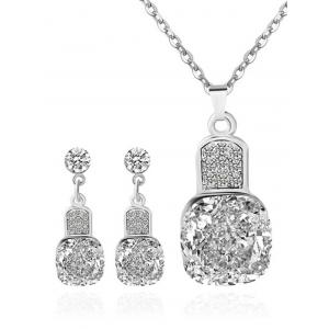 Rhinestone Geometric Wedding Jewelry Set