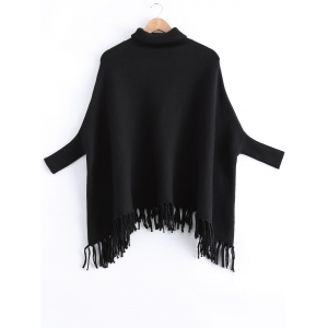Fringed Batwing Sleeves Loose Sweater