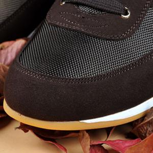Mesh Breathable Suede Spliced Casual Shoes ODM Designer - BROWN 39