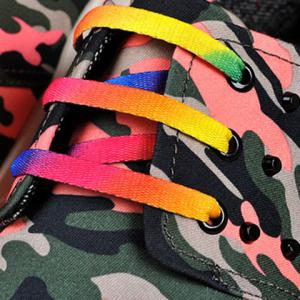 Rivet Lace-Up Camouflage Print Casual Shoes ODM Designer - RED 43