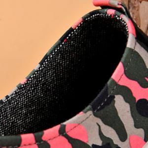 Rivet Lace-Up Camouflage Print Casual Shoes ODM Designer - RED 42