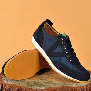 Mesh Breathable Suede Spliced Casual Shoes ODM Designer - BLUE 43
