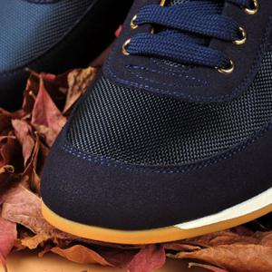 Mesh Breathable Suede Spliced Casual Shoes ODM Designer - BLUE 40