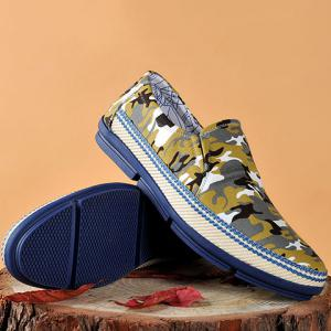 Round Toe Camouflage Print Casual Shoes ODM Designer - COLORMIX 38