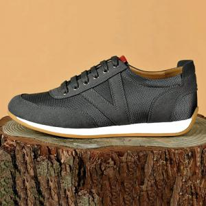 Mesh Breathable Suede Spliced Casual Shoes ODM Designer - GRAY 42