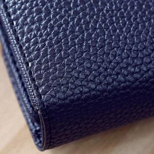Twist-Lock Closure Chain Embossing Wallet - BLACK