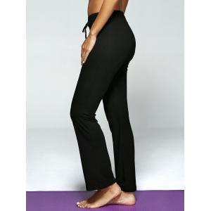 Plaine Drawstring ample pantalon de yoga -
