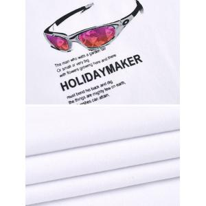 3D Sunglasses Print Round Neck Short Sleeve Ringer T-Shirt ODM Designer - WHITE 3XL