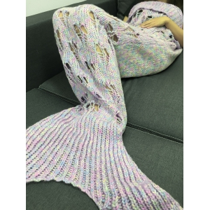 Hollow Out Heart Shape Knitting Mermaid Tail Design Blanket -