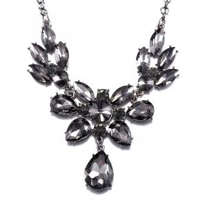 Rhinestoned Water Drop Wedding Jewelry Necklace -