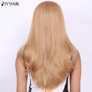 Stunning Real Natural Siv Hair Long Straight Wig -