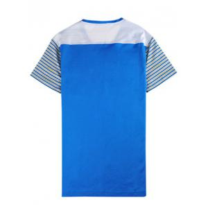 V-Neck Striped Spliced T-Shirt ODM Designer -