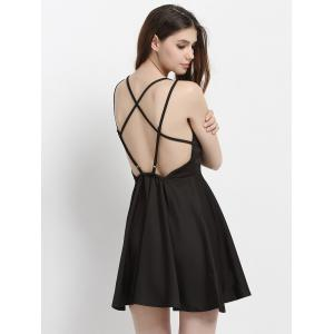 Backless Crisscross Strappy A Line Cocktail Dress -