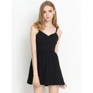 Backless Skater Cami Cocktail Dress - BLACK XS