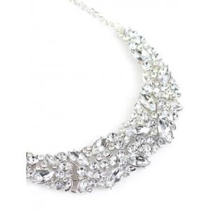 Faux Crystal Wedding Necklace -