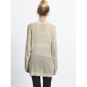 Loose Fitting Hollow Out Knitted Pullover -