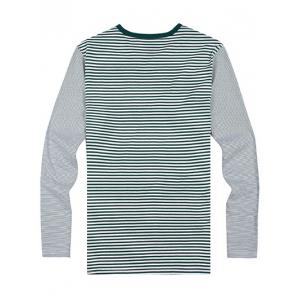Striped Zipper 3D Print Round Neck Long Sleeve T-Shirt ODM Designer -