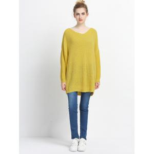 Loose Fitting Solid Color Knitted Pullover -