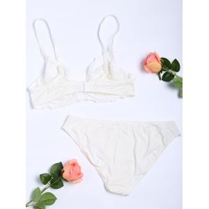 Push Up Floral Embroidered Bra Set -