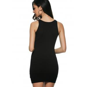 Cut Out Strappy Night Out Fitted Bandage Dress - BLACK ONE SIZE(FIT SIZE XS TO M)