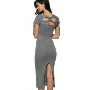 Criss Cross Midi Pencil Dress -