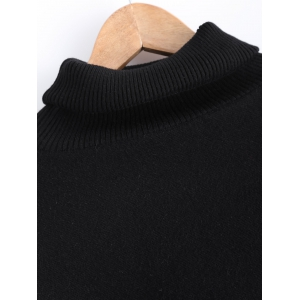 Fringed Batwing Sleeves Loose Sweater - BLACK ONE SIZE