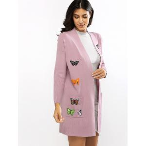 Butterfly Embroidered Knitted Cardigan -