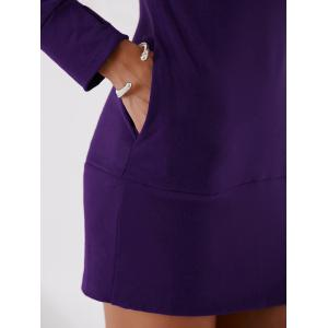 Turtleneck Long Sleeve Mini Sheath Dress -