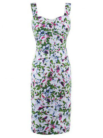 Online Sleeveless Floral Printed Bodycon Dress