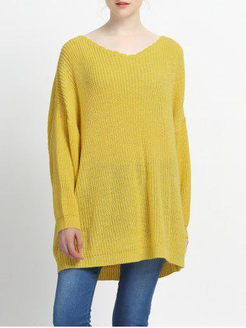 Hot Loose Fitting Solid Color Knitted Pullover