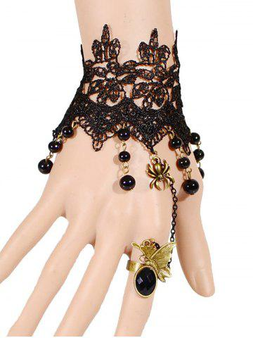 Shops Spider Butterfly Beads Bracelet With Ring