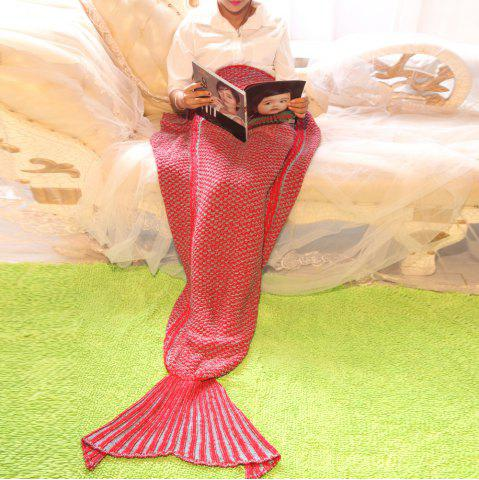 Affordable Knitting Mermaid Tail Style Soft Blanket