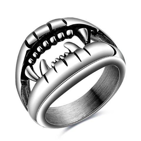 Store Punk Style Cut Out Finger Devil Ring SILVER 6