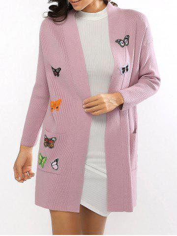 Outfits Butterfly Embroidered Knitted Cardigan