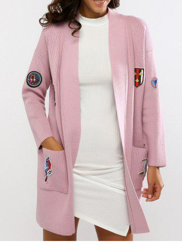 Outfit Embroidered Double Pockets Knitted Cardigan