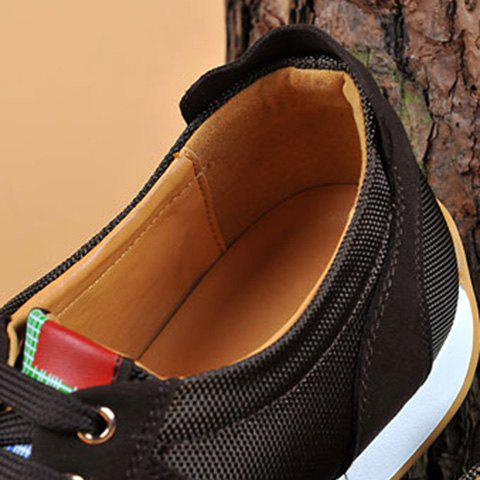 Sale Mesh Breathable Suede Spliced Casual Shoes ODM Designer - 41 BROWN Mobile