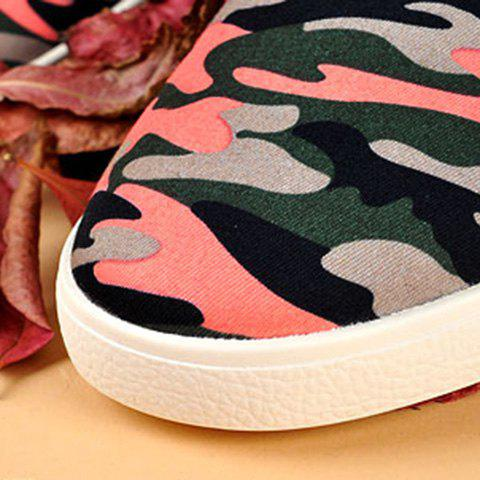 Outfit Rivet Lace-Up Camouflage Print Casual Shoes ODM Designer - 41 RED Mobile
