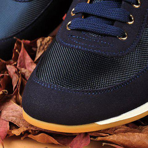 Online Mesh Breathable Suede Spliced Casual Shoes ODM Designer - 41 BLUE Mobile