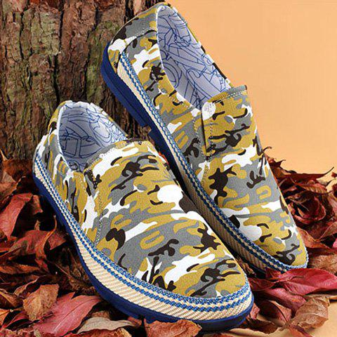 Fancy Round Toe Camouflage Print Casual Shoes ODM Designer COLORMIX 38