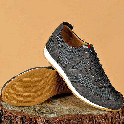 Online Mesh Breathable Suede Spliced Casual Shoes ODM Designer GRAY 41