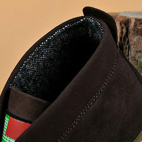 Sale Mid Top Suede Lace-Up Casual Shoes ODM Designer - 43 DEEP BROWN Mobile